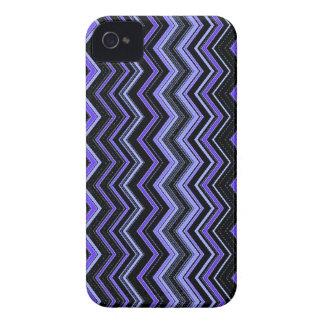 zigzag1 blues black iPhone 4 cover