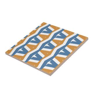 Zigzag abstracto azulejo cuadrado pequeño