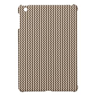 Zigzag - Almond and Cafe Noir iPad Mini Case