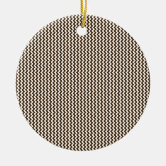 Zigzag - Almond and Cafe Noir Christmas Tree Ornaments