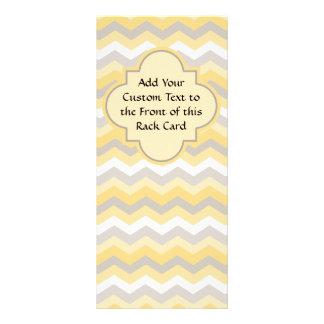 Zigzag amarillo/gris de Chevron Tarjeta Publicitaria Personalizada