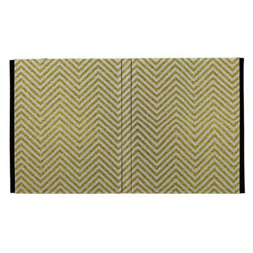 Zigzag amarillo y blanco del brillo
