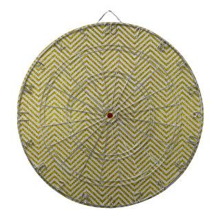 Zigzag amarillo y blanco del brillo tabla dardos
