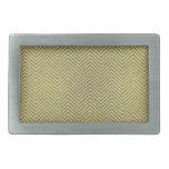 Zigzag amarillo y blanco del brillo hebillas cinturon rectangulares