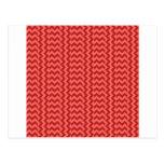 Zigzag amplio simple de V&H - rojo en colores Postal