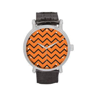 Zigzag anaranjado relojes