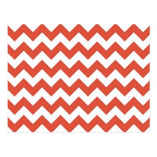 Zigzag anaranjado y blanco postal