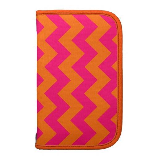 Zigzag anaranjado y rosado planificador