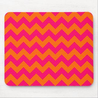 Zigzag anaranjado y rosado tapete de raton