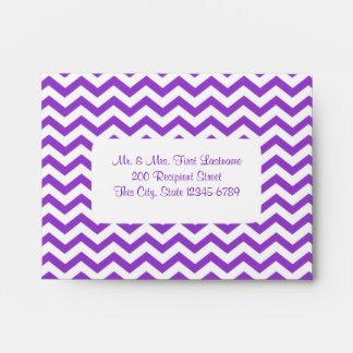 Zigzag and Lollipops Purple Envelopes