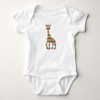 zigzag animals baby bodysuit
