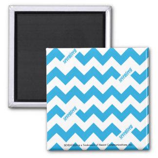 ZigZag Aqua 2 Inch Square Magnet