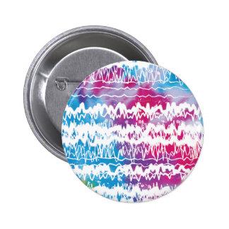 Zigzag Artistic Background Art tiedye black white Pinback Button
