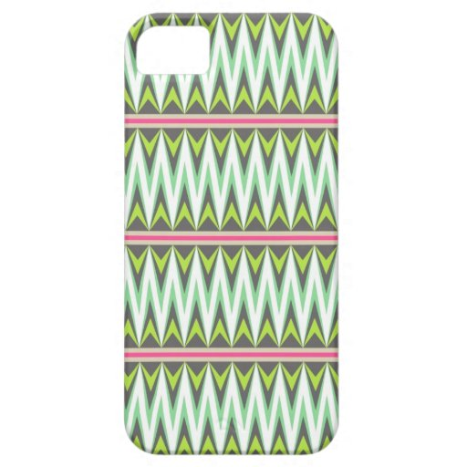 Zigzag azteca tribal de la flecha del zigzag del g iPhone 5 Case-Mate carcasa