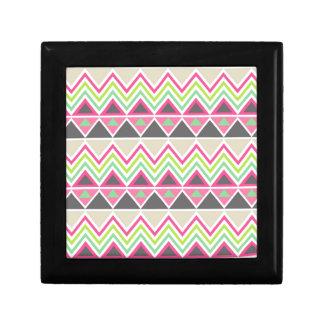 Zigzag azteca tribal del triángulo del zigzag del caja de regalo