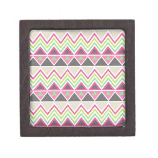 Zigzag azteca tribal del triángulo del zigzag del  caja de joyas de calidad