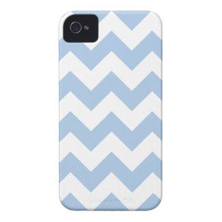 Zigzag azul apacible de Chevron iPhone 4 Cárcasa