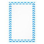 Zigzag azul brillante de moda, elegante del galón papeleria personalizada