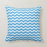 zigzag azul brillante moderno, de moda, elegante cojines