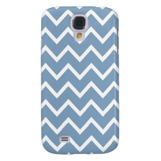 Zigzag azul Chevron de la oscuridad Funda Para Galaxy S4