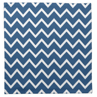 Zigzag azul Chevron de Mónaco Servilletas
