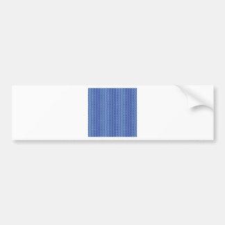 Zigzag - azul claro y azules marinos pegatina de parachoque