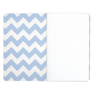 Zigzag azul claro y blanco cuaderno