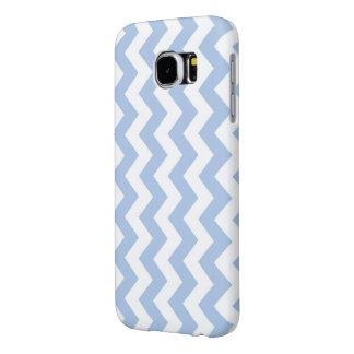 Zigzag azul claro y blanco funda samsung galaxy s6