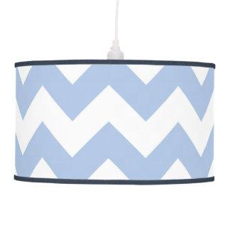 Zigzag azul claro y blanco lámpara de techo