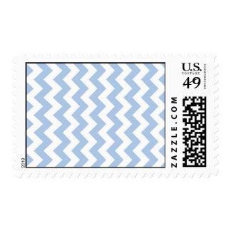 Zigzag azul claro y blanco sellos postales