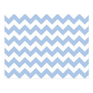 Zigzag azul claro y blanco tarjeta postal