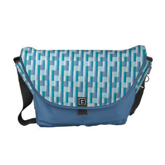 Zigzag azul del trullo del mosaico del modelo abst bolsa messenger