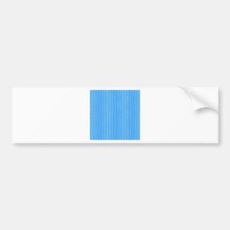 Zigzag - azul y azul de la ventisca pegatina de parachoque