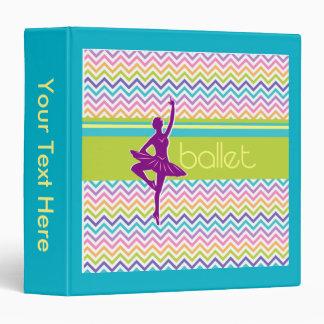 Zigzag Ballet Vinyl Binder