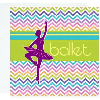 Zigzag Ballet Card