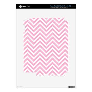 Zigzag blanco del rosa del modelo de Chevron para Pegatina Skin Para iPad 3