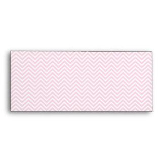 Zigzag blanco del rosa del modelo de Chevron para Sobres