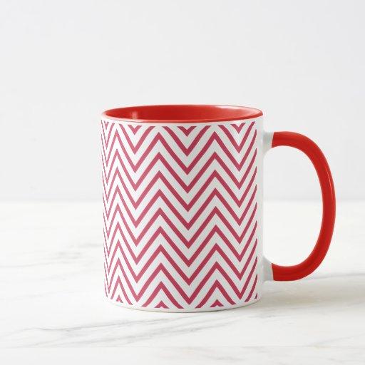 Zigzag blanco rojo del monograma