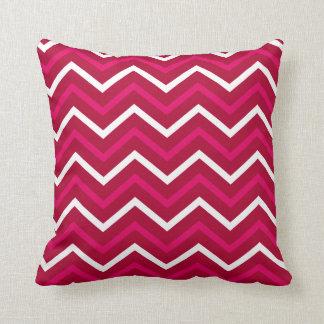 Zigzag blanco rosado caliente retro del modelo de cojín