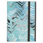Zigzag blanco Trullo-Azul negro de Chevron