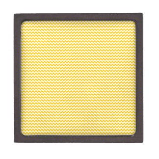 Zigzag - blanco y amarillo de la mandarina cajas de joyas de calidad