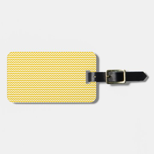 Zigzag - blanco y amarillo de la mandarina etiquetas de maletas