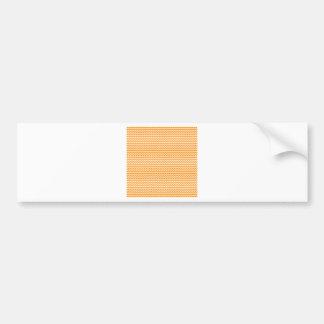 Zigzag - blanco y anaranjado oscuro etiqueta de parachoque