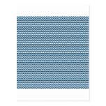 Zigzag - blanco y añil (tinte) postales
