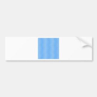 Zigzag - blanco y azul etiqueta de parachoque