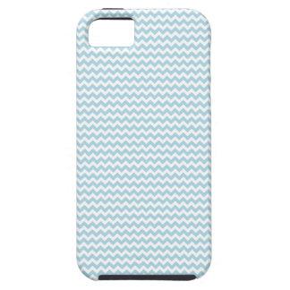 Zigzag - blanco y azul claro iPhone 5 protectores