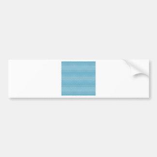 Zigzag - blanco y azul del Celadon Etiqueta De Parachoque