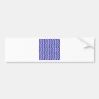 Zigzag - blanco y azul marino etiqueta de parachoque