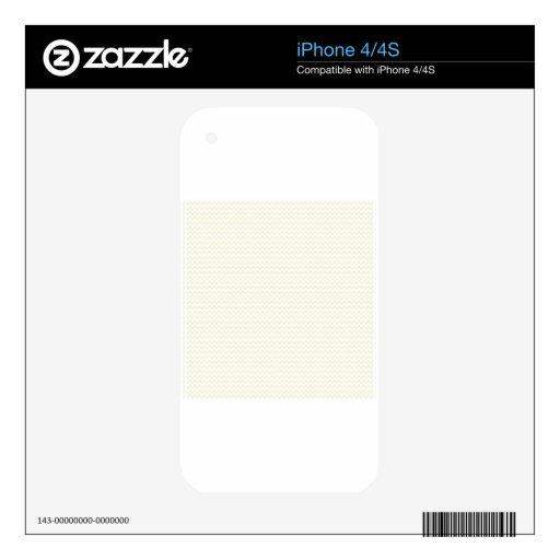 Zigzag - blanco y beige skins para iPhone 4S