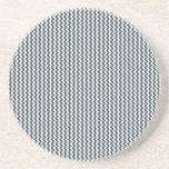 Zigzag - blanco y carbón de leña posavasos para bebidas